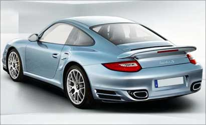 Rear view of Porsche Turbo S.