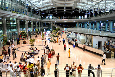 Rajiv Gandhi International Airport in Hyderabad.