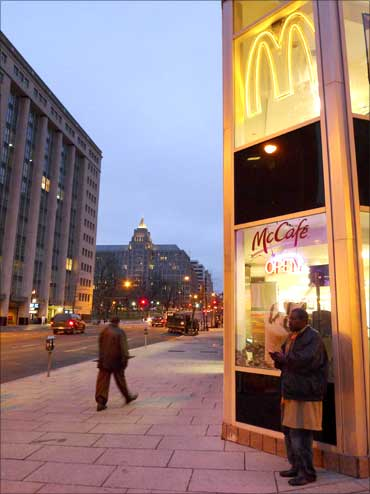 A McDonald's restaurant in Washington D.C.