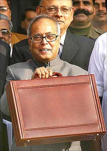 Finance Minister Pranab Mukherjee.