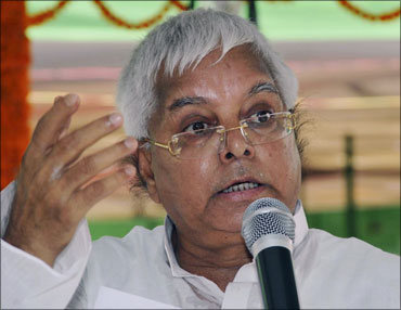 Rashtriya Janata Dal chief and former railway minister Lalu Prasad.