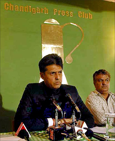 Manish Tewari, Congress spokesperson.