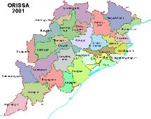 Orissa's map