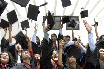 Indian students symbolise a rising India.