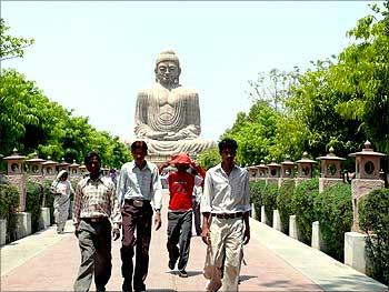 Bodhgaya, a tourist destination.