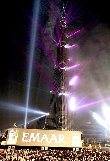 Burj Dubai tower.