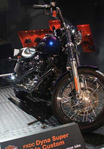 A Harley-Davidson beauty at the Auto Expo.