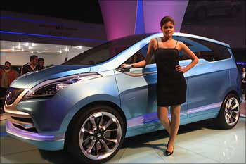 Maruti suzuki launches the R3 concept multi purpose vehicle.