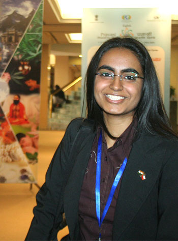 Komal Dadlani, a 3rd year student of biochemistry from Universidad de Chile.