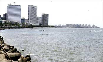 Image: Marine Drive in Mumbai. Photograph: Reuters