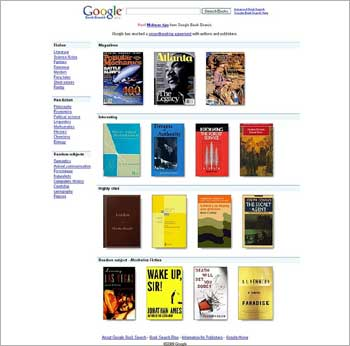 Google's oline book search initiative.