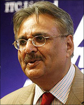 Image: ITC Ltd Chairman Y C Deveshwar. Photograph: Reuters