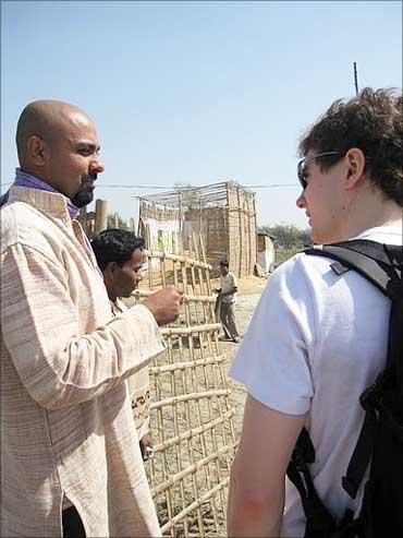 Gyanesh Pandey, Simon at Malahitola plant.
