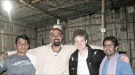 Ratnesh Yadav, Gyanesh Pandey, Simon, Manoj Sinha (L to R).