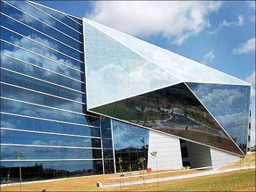 One of the development centres at the Infosys Mysore Development Centre that has been designed by ace architect Hafeez Contractor.