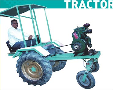 Tractor without steering by Bachubhai.