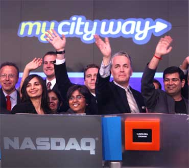 3 Indian American techies ring Nasdaq bell
