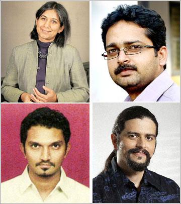 Other finalists: (Clockwise) Nondita Correa-Mehrotra, Shibin KK, Shahrukh Irani, Hitesh Padmashali.