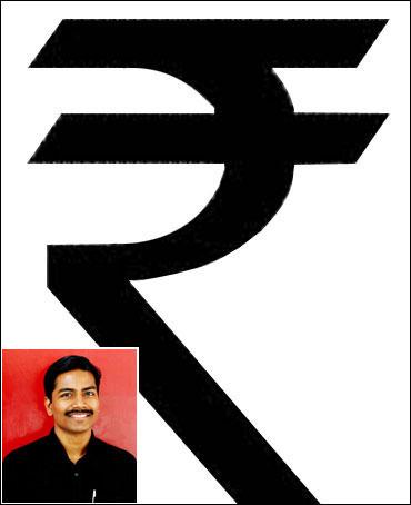 The Rupee symbol (inset) D Udaya Kum