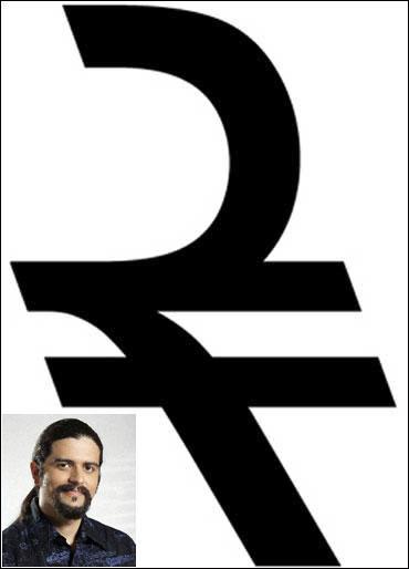 Shahrukh J Irani's rupee symbol (inset) Irani.