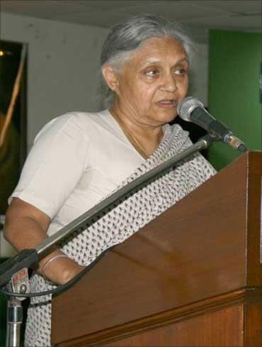 Delhi Chief Minister Sheila Dikshit.