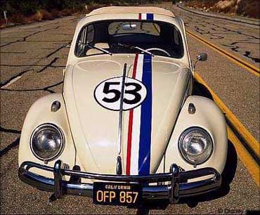 Herbie is an anthropomorphic Volkswagen Beetle, a character that is featured in several Disney motion pictures starting with the 1968 feature film 'The Love Bug'. He has a mind of his own and is capable of driving himself, and is a serious contender in auto racing competitions.
