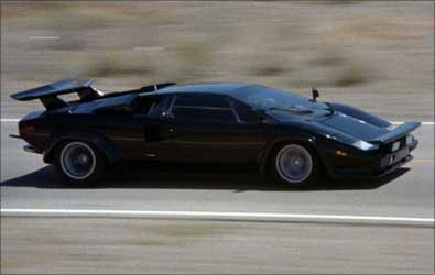 1980 Lamborghini Countach showcased in the movie Cannonball Run.