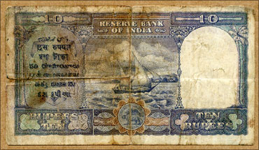 An old Rs 10 note.
