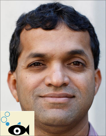 Bala Parthasarthy, managing director, Asia Pacific and Latin America, Snapfish-Hewlett-Packard. (Inset) SnapFish logo.