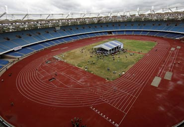 The Jawaharlal Nehru Stadium constructed for the 2010 Commonwealth Games.