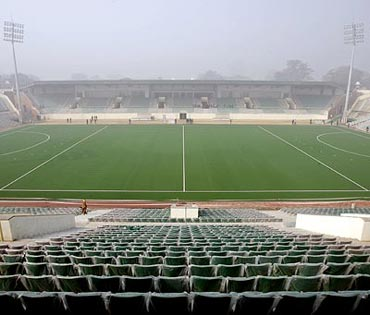 Dhyan Chand National Hockey Stadium in New Delhi.
