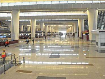 New terminal of New Delhi airport.
