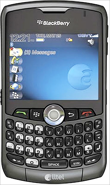 BlackBerry, a popular smartphone.