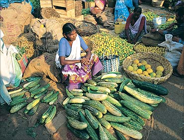 Food inflation rises.