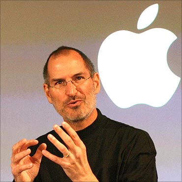 Apple chief executive officer Steve Jobs.