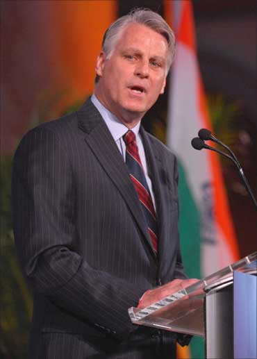 US Ambassador to India, Timothy Roemer, addressing a gathering at