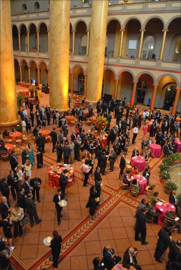 Gala reception at the National Building Museum, Washington, DC.