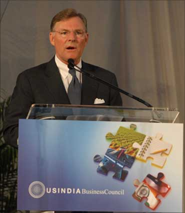 The new chairman of the USIBC, Terry McGraw.