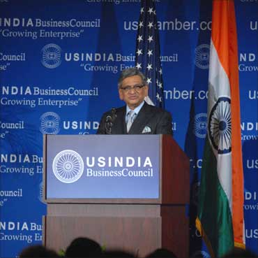 External Affairs Minister S M Krishna addresses the USIBC's 35th anniversary gala.