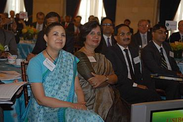 Indian Ambassador Meera Shankar and Foreign Secretary Nirupama Rao at the USIBC gala