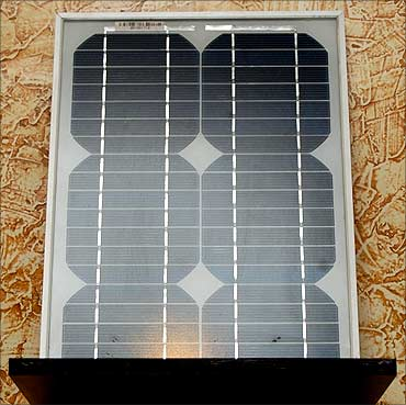 A solar panel made by Kirti.