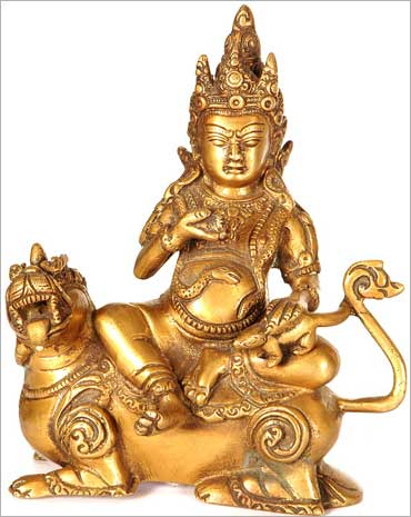 Kubera - God of wealth.