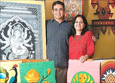 Surajit Ray 31 (L) and Kavita N. 30, Co-Partners, Rare Indian Art, New Delhi.