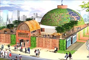 India Pavilion at Shanghai World Expo.