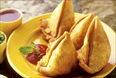 Samosas, a hit in China.