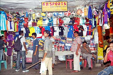 A sports good shop in Kolkata.