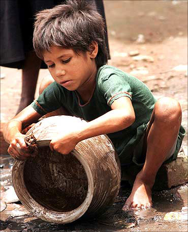 A  child labourer.