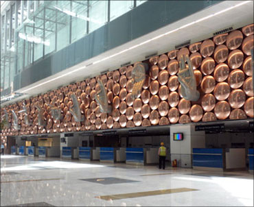 The magnificent Terminal 3 at Delhi's Indir