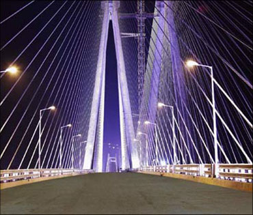 The Bandra-Worli sealink in Mumbai.