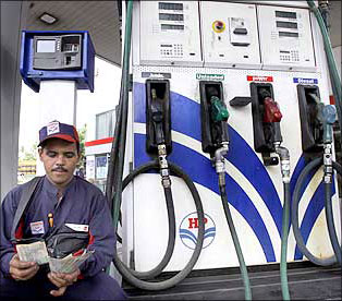Petrol pirces degulated. Photograph: Reuters